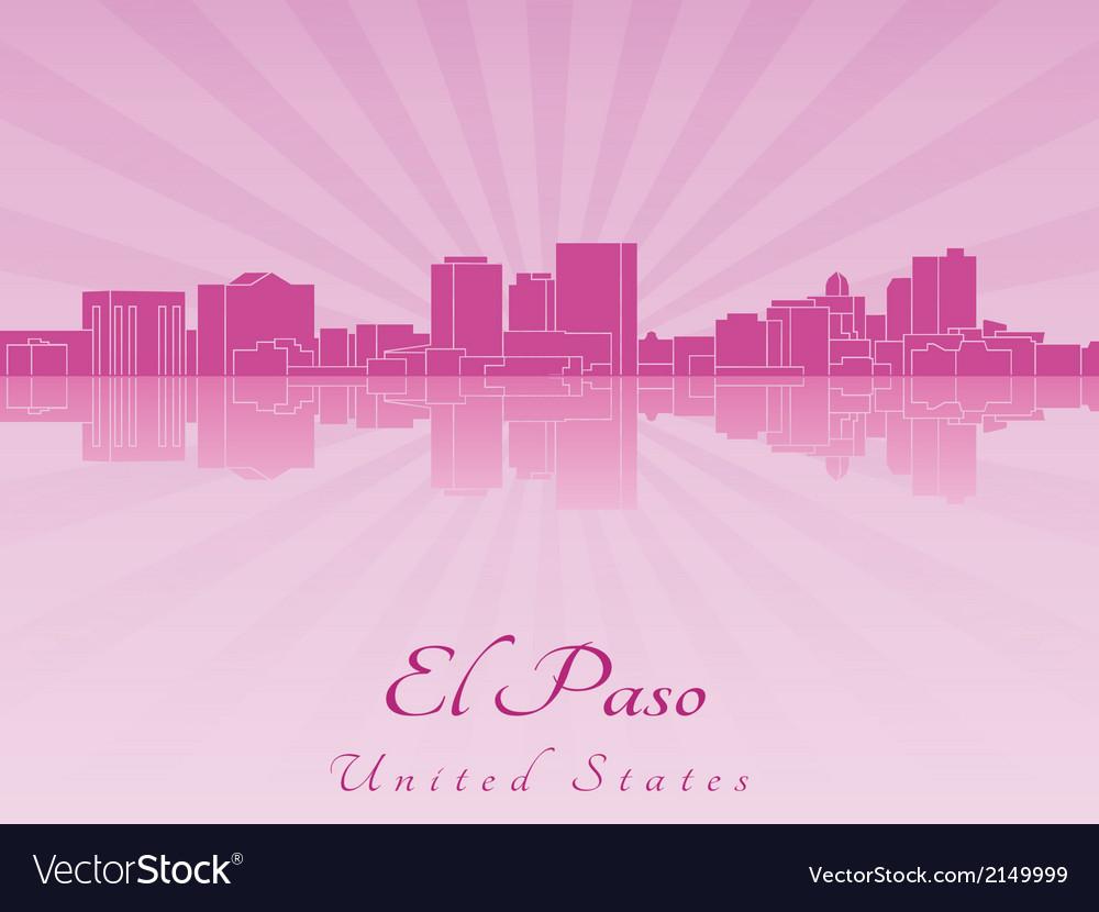 El paso skyline in purple radiant orchid vector | Price: 1 Credit (USD $1)