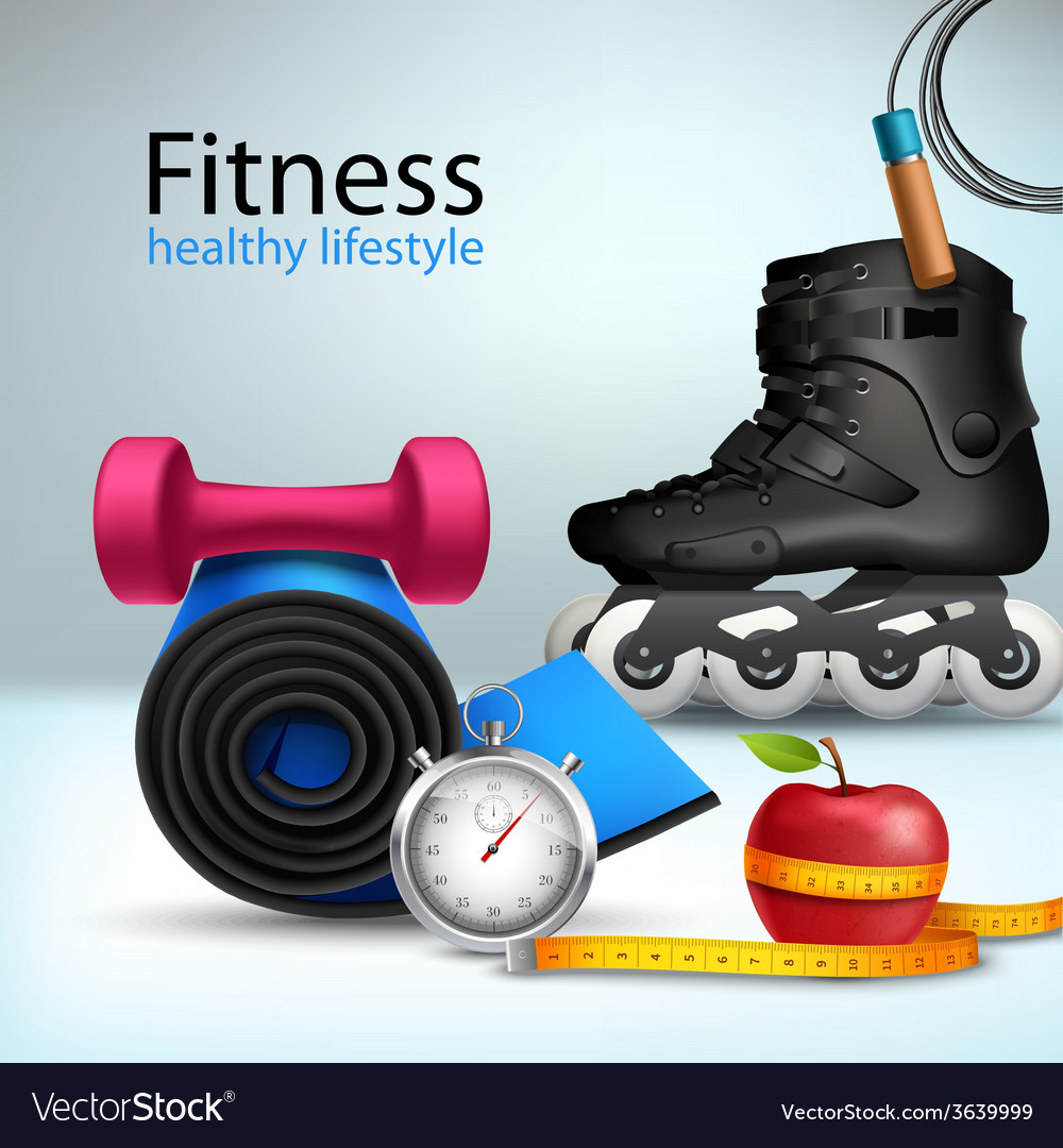 Fitness lifestyle background vector | Price: 1 Credit (USD $1)