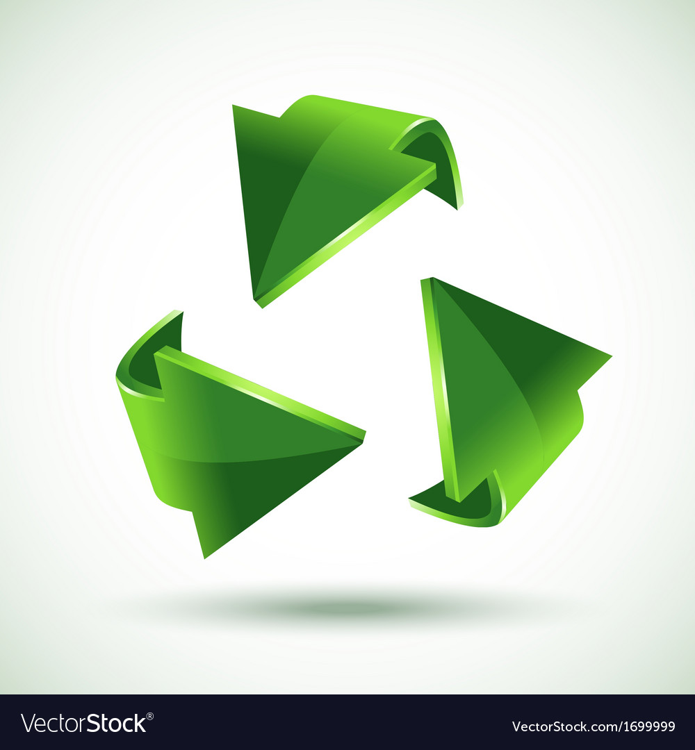 Green recycling arrows vector | Price: 1 Credit (USD $1)