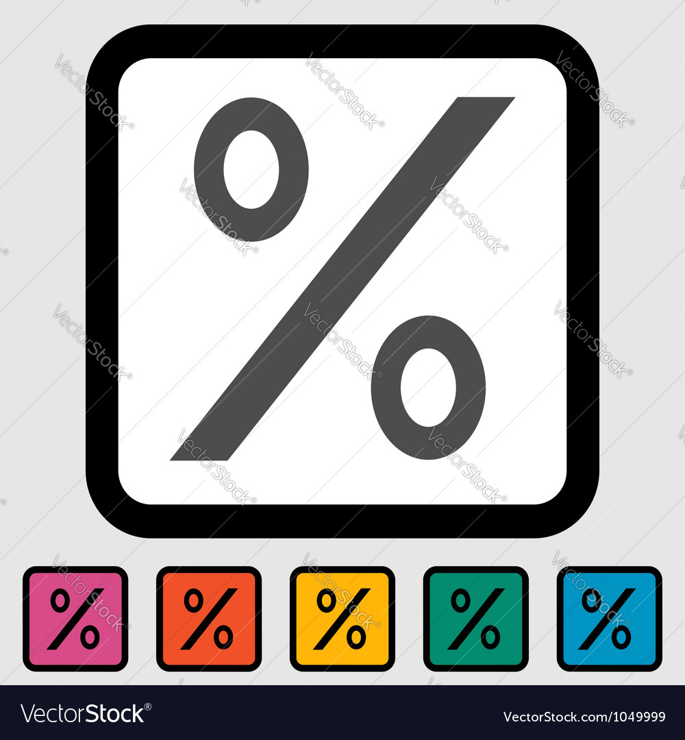 Icon percent sign vector | Price: 1 Credit (USD $1)
