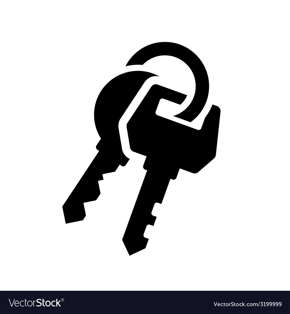Keys icon vector | Price: 1 Credit (USD $1)