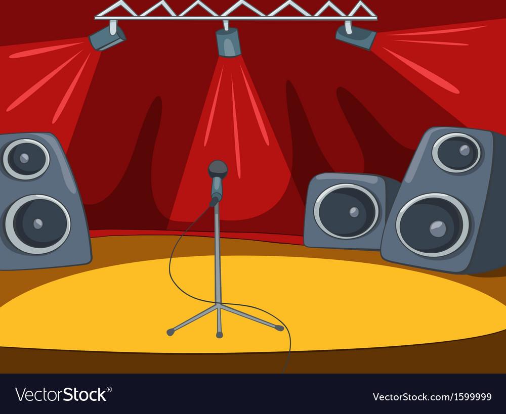 Rockroll stage cartoon vector | Price: 1 Credit (USD $1)