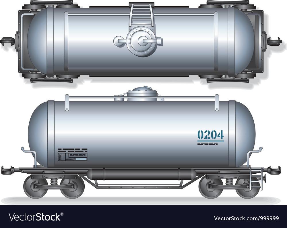 Train oil tanks vector | Price: 3 Credit (USD $3)