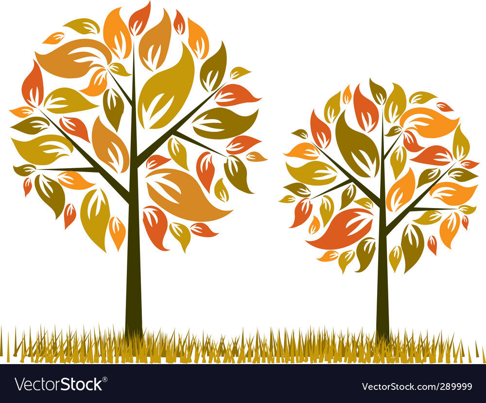 Tree autumn background vector | Price: 1 Credit (USD $1)