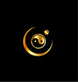 Harmony logo concept with yin and yang symbol vector