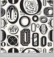 Seamless vintage pattern letter o vector