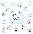 Pong ball cartoon vector