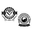 Vintage barber shop badges vector