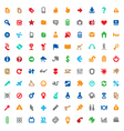 Multicolored icons and signs vector