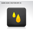 Rain drops icon gold vector