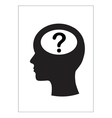 Man and thinking question mark vector