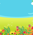 Background spring flower vector