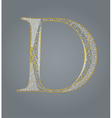 Abstract golden letter d vector