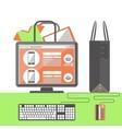 Internet shopping concept vector
