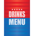 Drinks menu background vector