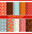 10 seamless patterns - autumn set vector