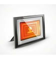 Photo frame 3d icon vector