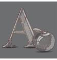 Abc with cartoon vector