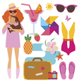Summer vacations set vector