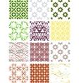 Set seamless geometric patterns - circles swirls vector