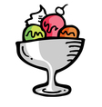 Ice cream sundae vector