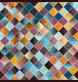 Patchwork pattern from small squares vector