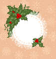Christmas celebration card with branch - vector