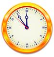 Gold clock eps10 vector