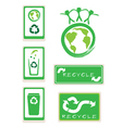 Set of recycle sign for save the world vector