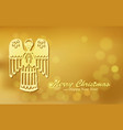 Christmas gold background with angel vector