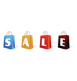 Sale sign bag vector