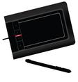Graphic tablet black vector