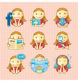 Design elements set of social icons vector