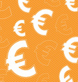 Euro money icon background vector