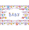 Baby shower funny card vector