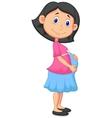 Pregnant woman cartoon vector