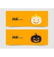 Black and wight smile pumpkin paper cut out vector