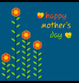 Happy mothers day greeting card design vector