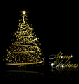 Abstract golden christmas tree vector