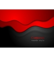 Dark abstract smooth waves background vector
