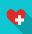 Trendy medical symbol with long shadow - vector