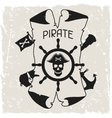 Background on pirate theme with objects and vector