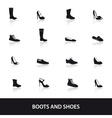 Boots and shoes eps10 vector