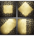 Golden background set vector