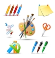 Paint tools set vector