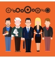 Set characters silhouettes of people different vector