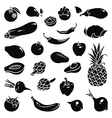 Fruits vegetables icons vector