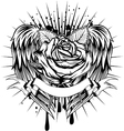 Rose and wings vector