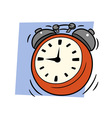 Ringing alarm clock vector