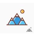 Mountains icon or logo vector